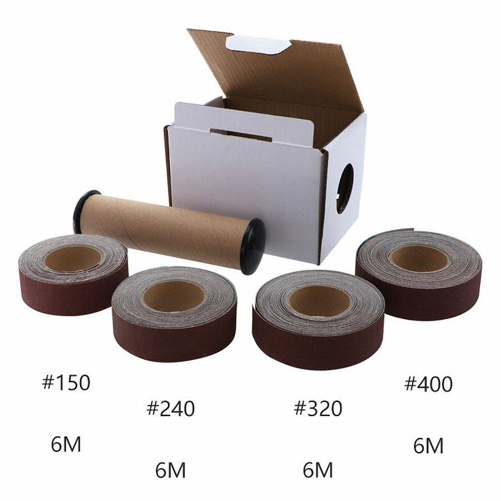 4Pcs/Set Emery Cloth Roll Soft Sand Cloth Dry Grinding Glass Sanding Paper Durable Professional Grinding And Polishing