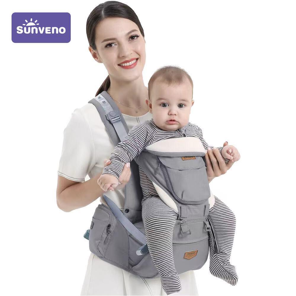 Sunveno Ergonomic Baby Carrier Baby Kangaroo Child Hip Seat Tool Baby Holder Sling Wrap Backpacks Baby Travel Activity Gear 1