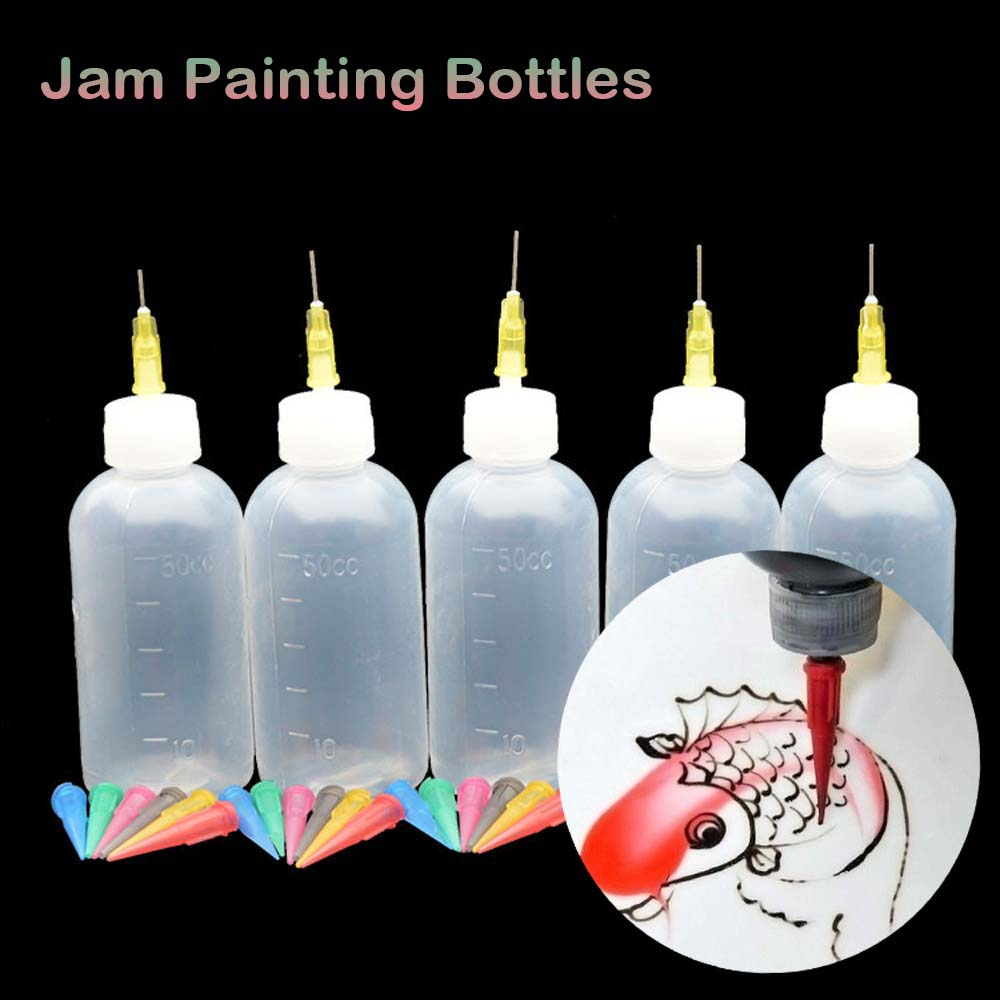 Jam Painting Squeeze Bottles With Cake Decor Family Baking Pastry 50ML Bottle Drawing Tools Jam Pot Kitchen Supplies