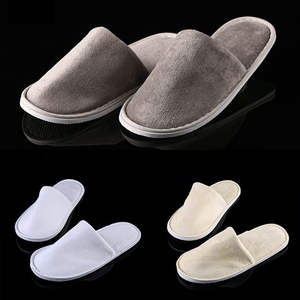 Slippers Shoes Bedroom Guest Plush Women Hotel Warm Home Cotton Short No Indoor 1-Pair