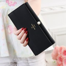 NEW Pearl Women's Wallet Ladies Leather PU Purse Hasp Clutch Long Zipper Phone Holder 2019 Female Wallets Coin Pocket Card Money new fashion cute women cat wallet cartoon short purse card holder ladies pu leather hasp clutch coin purse female money handbags