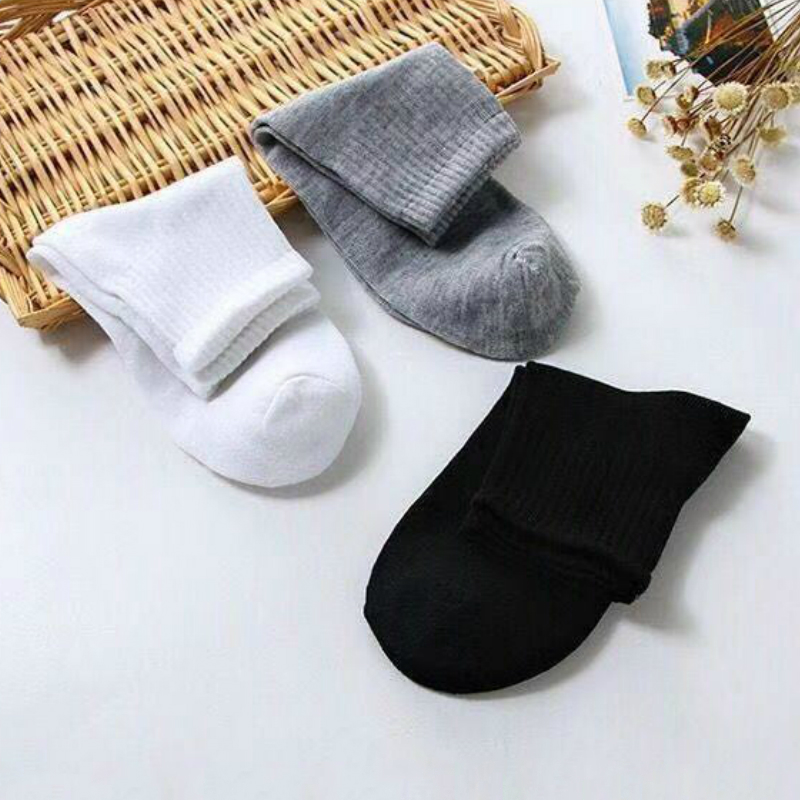 10 Pairs Women Socks Breathable Sports Socks Solid Color Boat Socks Comfortable Deodorant Sweat Cotton Ankle Socks White Black