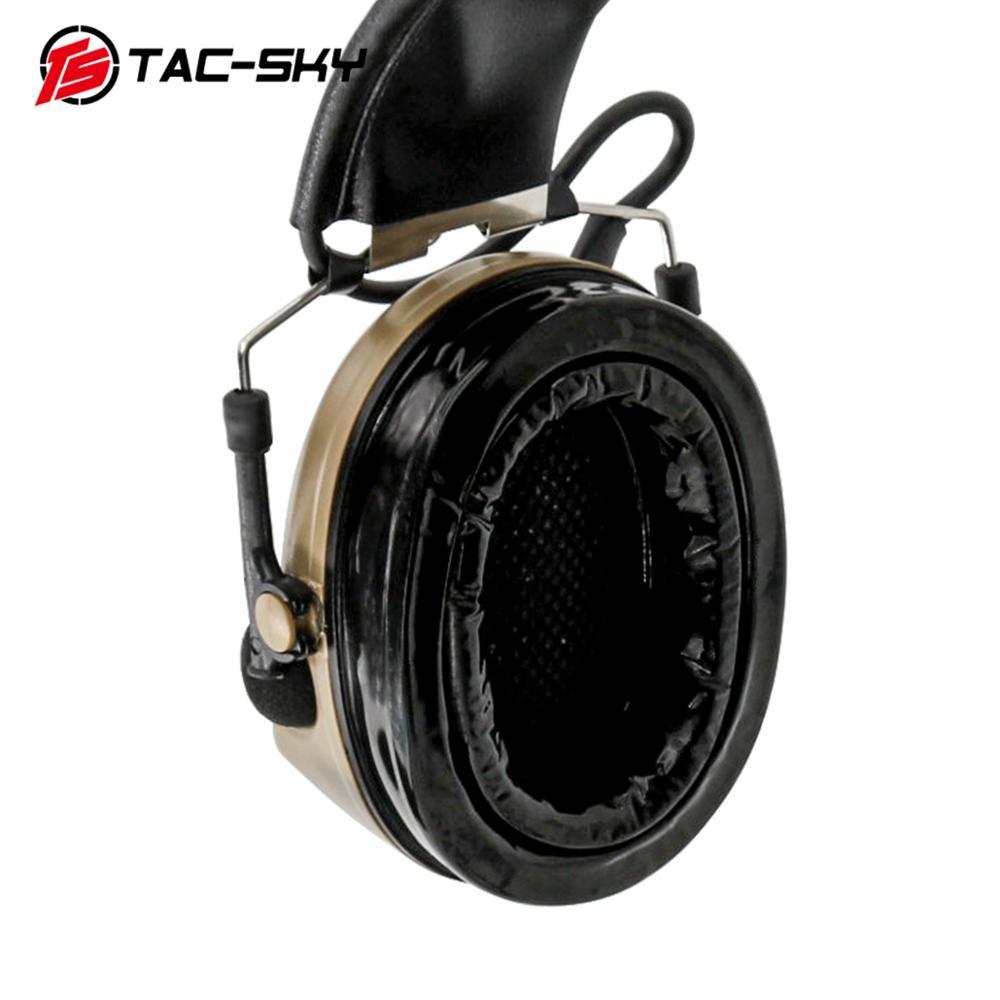 TAC-SKY COMTAC II silicone earmuffs hearing noise reduction pickup military tactical headset DE+ U94 Kenwood plug PTT