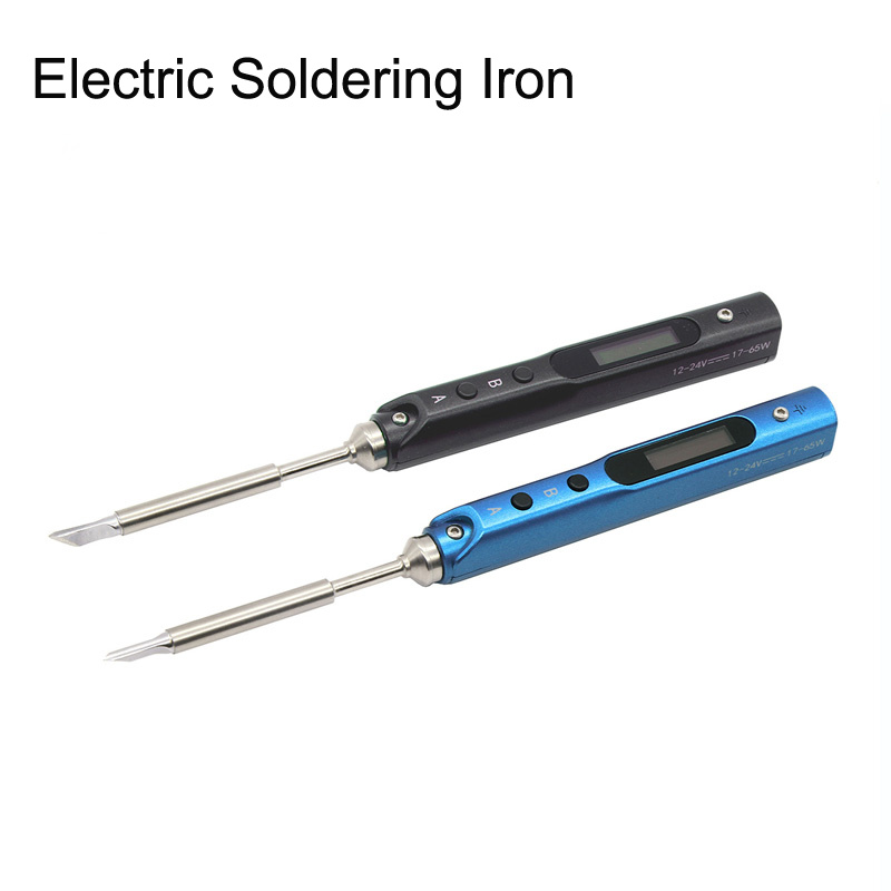 1Set 12-24V Blue/Black TS100 Electric Soldering Iron SQ-001 MINI Intelligent Portable 65W Station Digital OLED For RC Drone