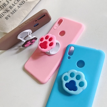 Multicolor TPU Cat Claw Stand case For samsung A series A 51 30 60 A71 A10 A20 A41 A31 A21S A01 M 51 31 20 10 S E phone cover image