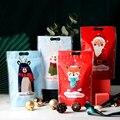 Рождественские подарочные пакеты для конфет и печенья LBSISI Life 50 шт., пластиковые упаковочные пакеты с застежкой-молнией, ручная упаковка для ...