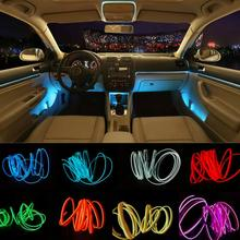 JURUS 5M 10 Colori Strisce di Luce Ambiente Auto EL Freddo Luci di Linea Interno Flessibile Moulding Trim Decorazione Per Il Motociclo lampada