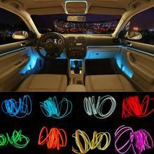 JURUS 5M 10 צבעים רכב אמביינט אור רצועות EL קר קו אורות פנים גמיש יציקת Trim קישוט עבור אופנוע מנורה