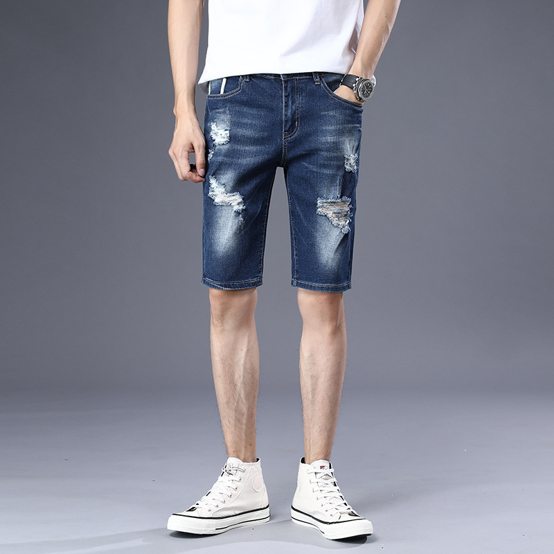 New Style Denim Shorts Men Fashion Short Shorts Summer Thin Section Capris Breeches Trend 5 Capri Pants 1816