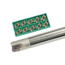42Cr Mo BAP400R fraise à envoyer 10 pièces APMT1604 outil de tour à insertion en carbure 400R porte-outil de fraisage, poignée centrale d'usinage