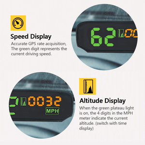 Image 3 - AUTOOL X100 GPS Speedometer Old Car Head UP Display Multifunction Digital Speed Altitude Meter Non OBD Automotive Electronic HUD