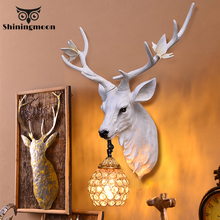 Nordic Antler Wall Lamp Creative Wall light Deer Lamp for Living Room Buckhorn Kitchen  Home Decor Wall Sconce Lamp Vanity Light