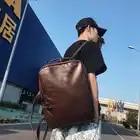 Versione coreana del doppio sacchetto di spalla di tendenza di blocco in pelle doppio sacchetto di spalla maschile borsa del computer del computer documento zaino