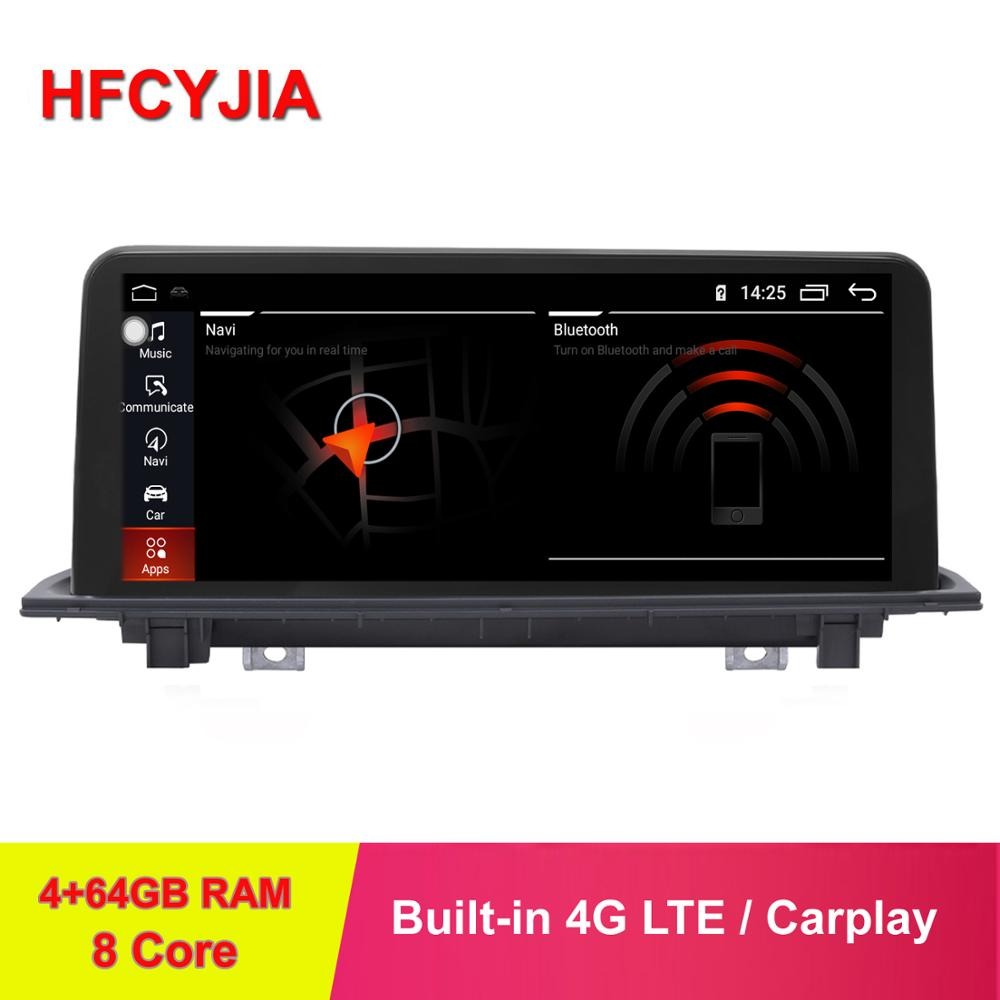 HFCYJIA 8 Core 4+64GB Android 9.0 System Car Screen Stereo For BMW F48 GPS Navi WIFI 4G LTE Google IPS Touch Carplay BT Player