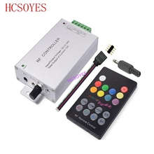 DC12V 24V 18 Keys RGB Music LED Controller RF Remote Sound Sensor Voice Audio Control For 3528 5050 RGB LED Strip Light