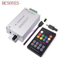 DC12V 24V 18 คีย์RGBเพลงLED Controller RFระยะไกลSensorเสียงเสียงสำหรับ 3528 5050 RGB LED Strip light