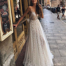 JAYCOSIN Formal Women's Floral Lace Vintage Short Sleeve Long Dress Slim High Slit Up White Maxi Dresses Elegant Party Dress 827(China)