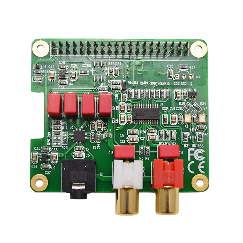 Плата расширения PCM5122 Raspberry Pi HiFi DAC HAT PCM5122 HiFi DAC аудио плата для Raspberry Pi 4 3 B + Pi Zero W