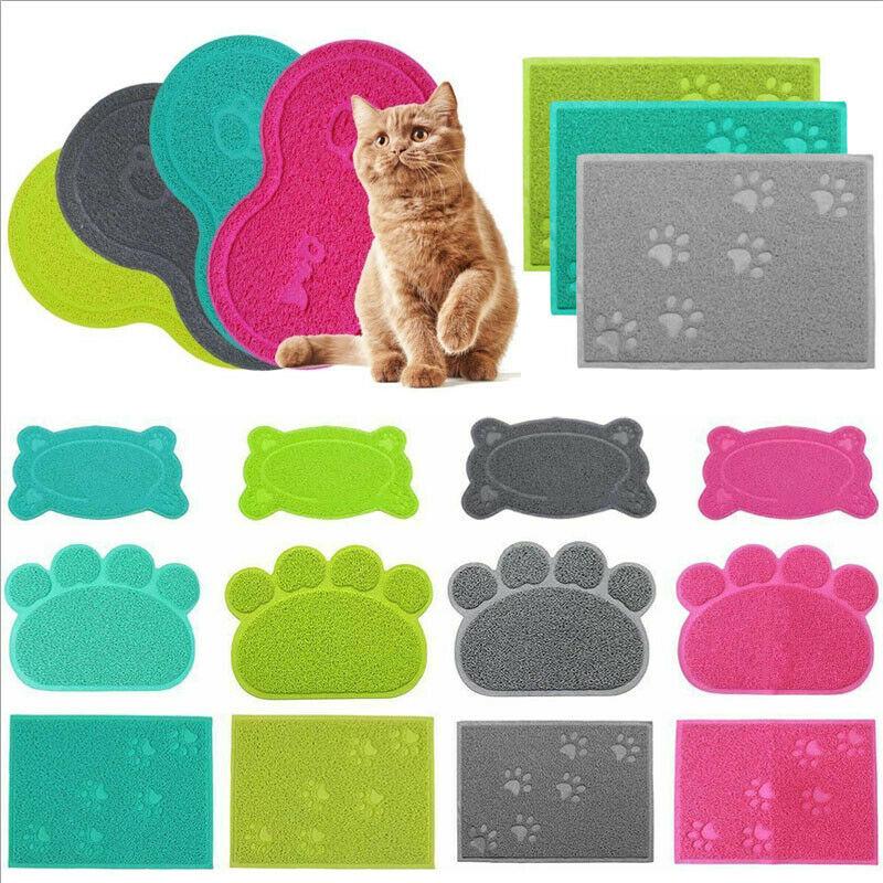 2019 Hot Sale 1pcs Pet Dog Puppy Cat Feeding Mat Pad Cute PVC Bed Dish Bowl Food Feed Placement Dog Bowl миска для кошки Cat  M