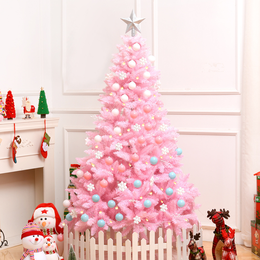 Christmas Gift Cherry Blossoms Pink Christmas Tree Package Luxury Encrypted Christmas Tree Decoration Model Ornaments For Home