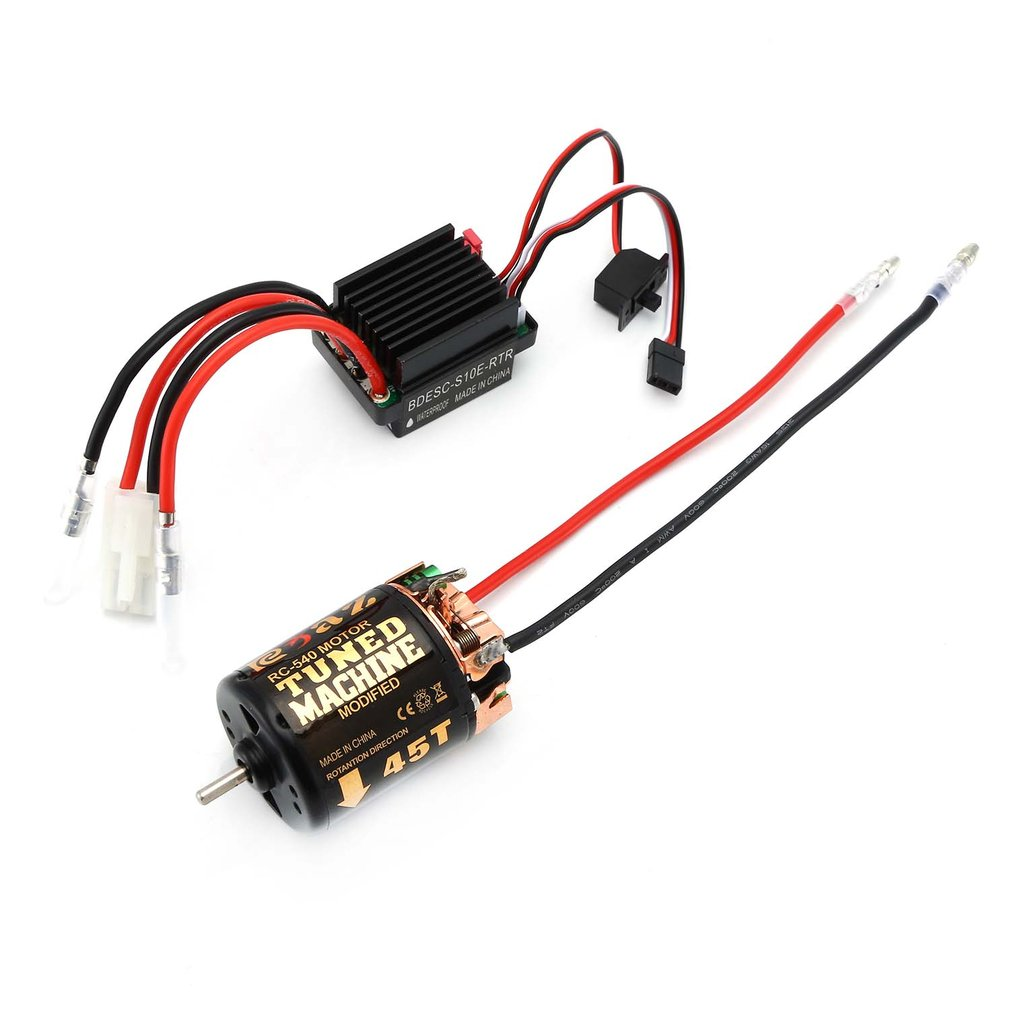 NEW Upgrade <font><b>RC</b></font> <font><b>540</b></font> 35T 45T 55T Brushed <font><b>Motor</b></font> With 320 <font><b>Speed</b></font> Controller Waterproof ESC for Traxxas Hsp Redcat Tamiya Axial SCX10 image