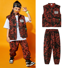 Children'S Hip-Hop Clothes Jazz Dance Costumes For Girls Catwalk Loose Vest Suit Jazz Street Dance Clothes Stage Outfits DN8347