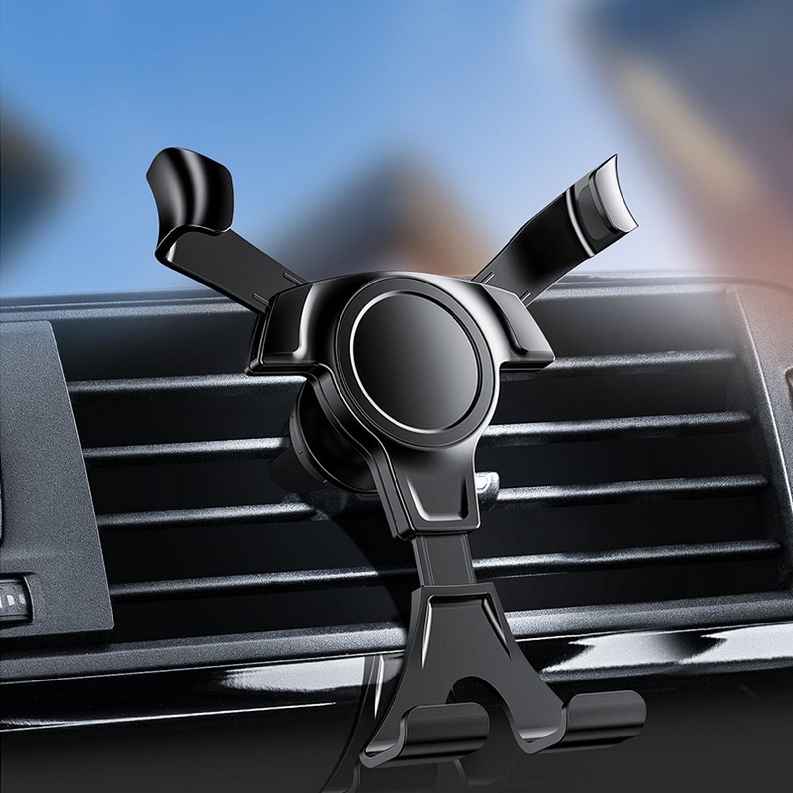 Универсальный тяжести автомобильная подставка для телефона для Мобильный телефон в держатель на вентиляционное отверстие автомобиля Стен...