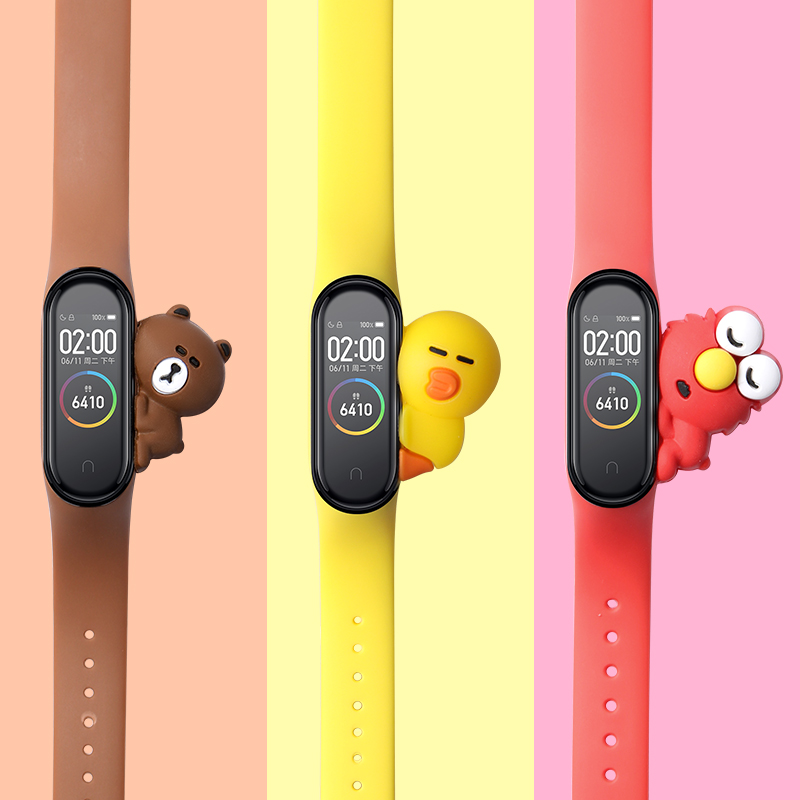 Bracelet For Miband 4 Strap Replacement Silicone Xiaomi Mi 4 Band Straps Xiaomi 3 Strap For Xiaomi Miband 3/4 Band Accessories