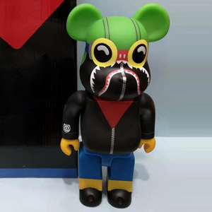 Hot 28CM Bearbricklys Brantley Batmans Action Figures Blocks Bear Dolls PVC Street Art Collectible Models Toys to Friends Gifts(China)