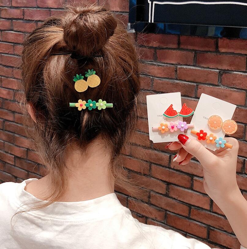 Kawaii Princess Fruit Hairpins Children Kids Hair Clips Pins Barrettes Accessories For Women Girls Hairgrip Hairclip Headdress