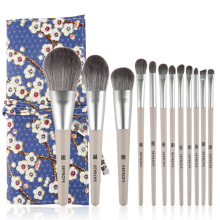 12 Pcs Makeup Brushes Set Beauty Tools Make Up Brush Sets Cosmetic Foundation Blush Concealer Eyebrow Eyeshadow Powder Brush Etc