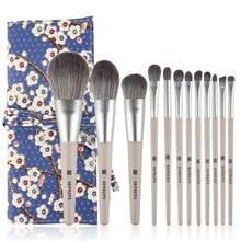 12 Pcs Makeup Brushes Set Beauty Tools Make Up Brush Sets Cosmetic Foundation Blush Concealer Eyebrow Eyeshadow Powder Brush Etc