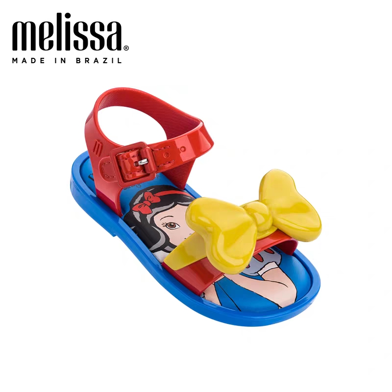 Mini Melissa 2020 New Summer Girl Jelly Sandals Snow Princess Children Jelly Shoes Mini Melissa Cute Princess Shoes Breathable