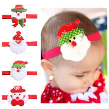 1PC New Christmas Headbands For Baby Kids Cartoon Style Hair Strap Santa Claus Headwear Hair Accessories Hot Sale Free Shipping(China)