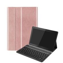 Funda para teclado para Lenovo Tab M10 TB X605F, desmontable, extraíble, de cuero PU, funda para teclado Bluetooth