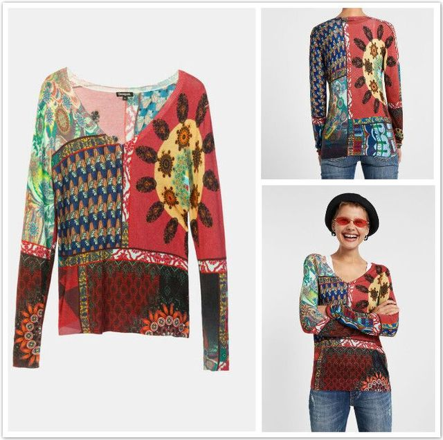 100% cotton Spanish DEG spring and autumn knitted  sweater XS-XXL 2