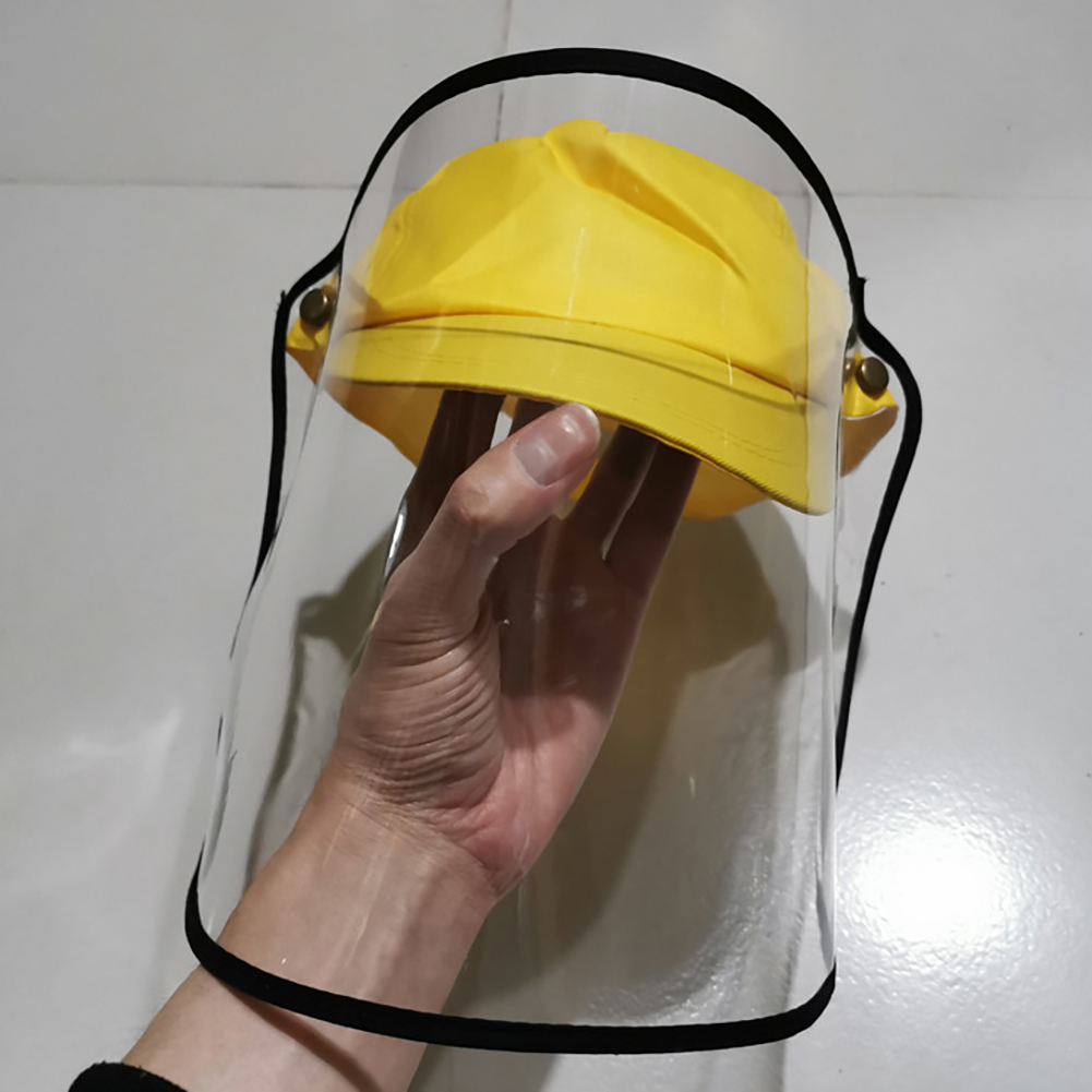 Dustproof Transparent Fisherman Hat Windproof Anti-fog Full Face Masks Antivirus Hat High Quality And Durable image