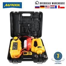 AUTOOL-gato de suelo hidráulico para reparación de vehículos, herramienta de emergencia para coche, 12V, 5T