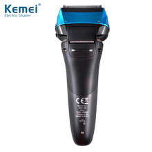 Kemei With LED Display Electric Beard Shaver Machine Hair trimmer Four Blade Shaving Razor Waterproof Rechargeable Men Razor professional electric razor with stainless steel blade male portable beard trimmer rechargeable electric shaver