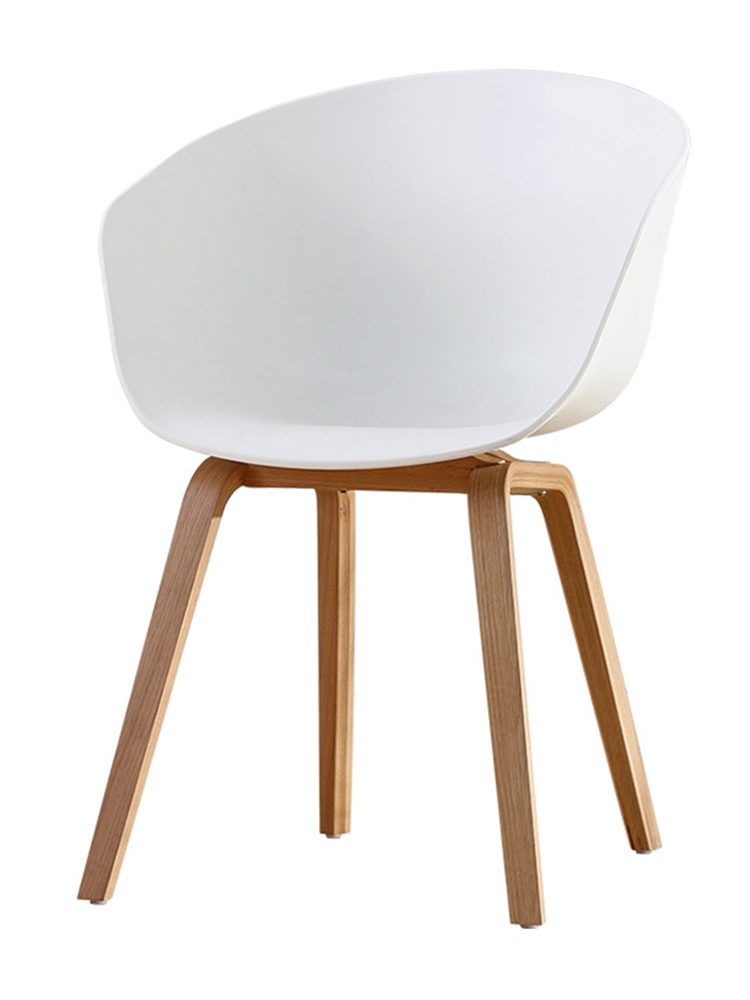 Nordic Dining Chair Casual Modern Restaurant Home Designer Creative Office Soft Bag Solid Wood Foot Living Room Chair