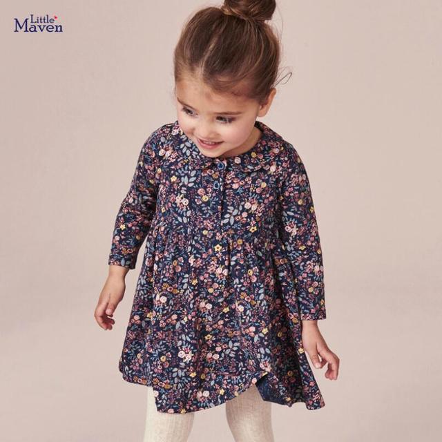 Little maven/детская модная одежда для девочек Фирменная Осенняя
