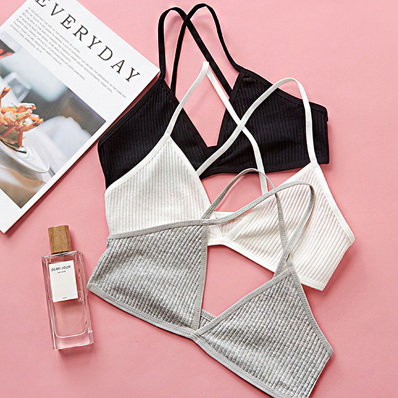 BEFORW Fashion One Piece Solid Color Bra Underwear Comfortable Seamless Bras For Women Backless Wireless Bralette Sexy Lingerie