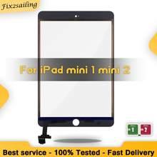 Сенсорная панель для iPad Mini 1 Mini 2 Mini1 A1432 A1454 A1455 Mini2 A1489 A1490, дигитайзер сенсорного экрана + соединитель микросхемы IC