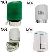 Atuador térmico elétrico do motor de acionamento termoelétrico 220 24v normalmente fechado aberto para o radiador distribuidor de aquecimento underfloor