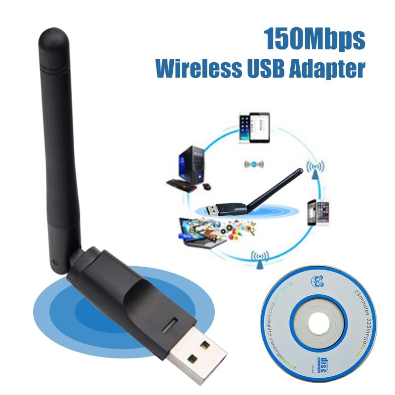 Usb Wifi Adapter Ethernet Lan Wireless 802.11n Laptop Dongle Card Antena Adaptador 2.4g Wi Fi Receiver Wi-fi Mini Mbps