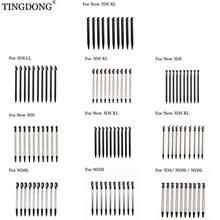 10 pçs preto plástico stylus tela de toque metal caneta telescópica stylus para nintendo 3ds xl ll novo 2ds/3ds ll xl para ndsl ndsi