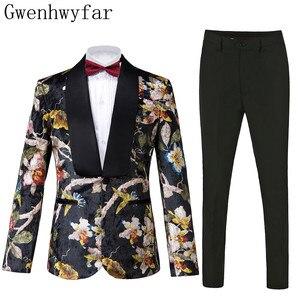 Image 1 - Gwenhwyfar Bello di Lusso Degli Uomini del Vestito di Alta Qualità Fiori Modello di Giacca + Pantaloni Nuovo Design di Grande di Vendita Degli Uomini di Vestito Da Sposa Best uomini