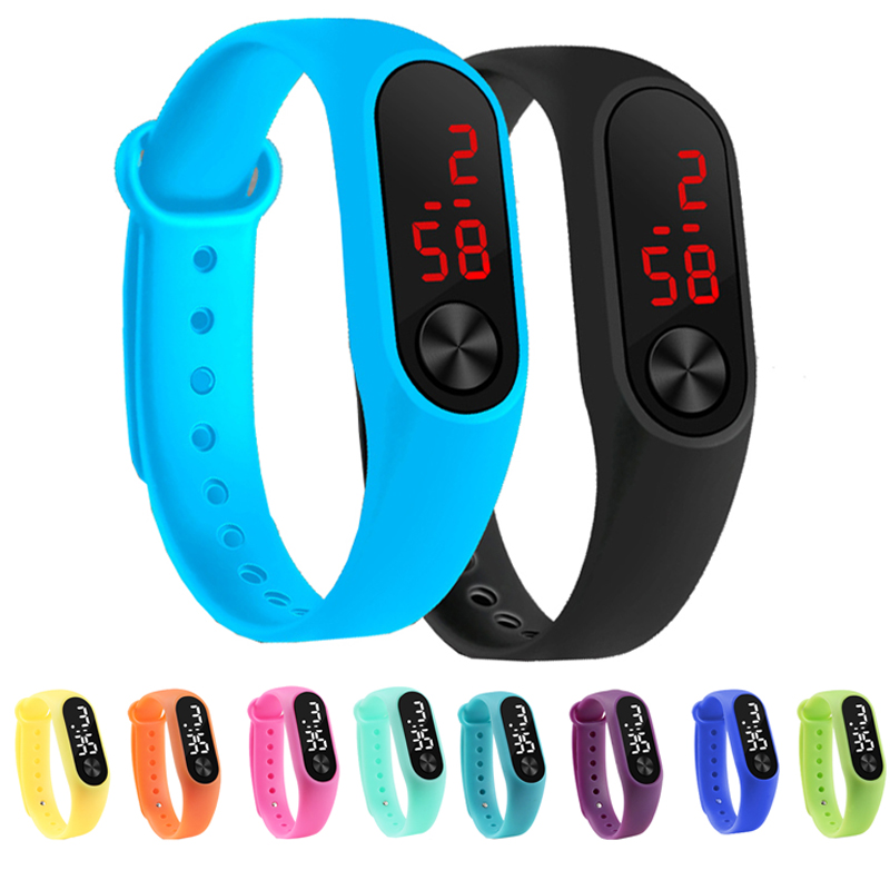 Children's Watches Kids LED Digital Sport Watch For Girls Boys Women Men Electronic Silicone Bracelet Watch Reloj Infantil