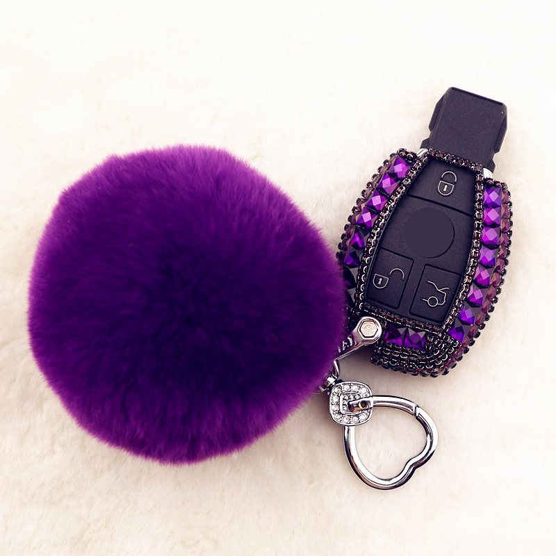 Luxury Diamond Car Key Case Cover Holder For Mercedes benz A B R G Class GLK GLA w204 W251 W463 W176 Smart Remote Accessories image