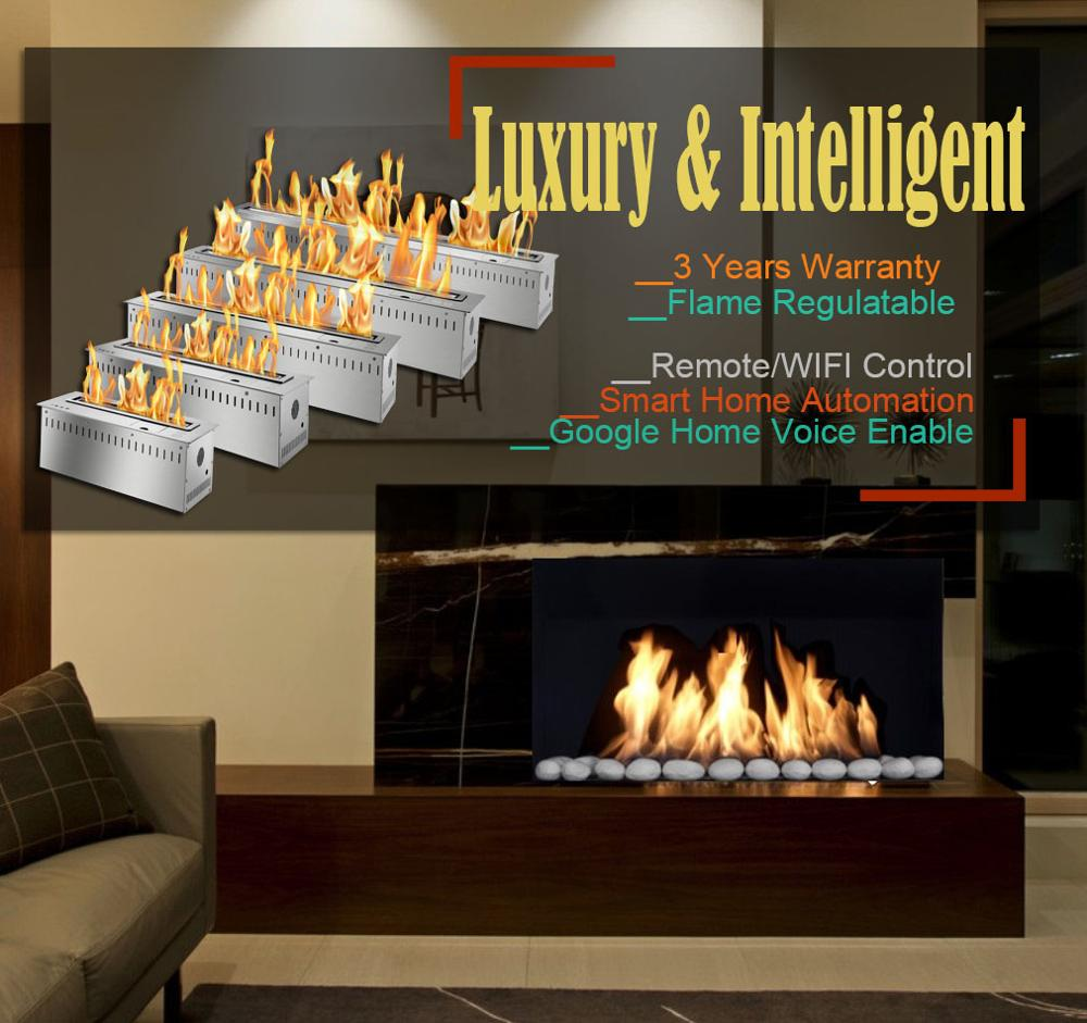 Inno Living 24 Inch Electric Fireplace Insert 2 Sided Wifi Knx Home Automation Fireplace